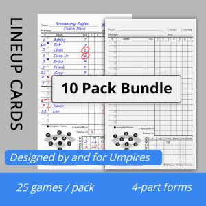 World's Best Lineup Cards - 25 Pack